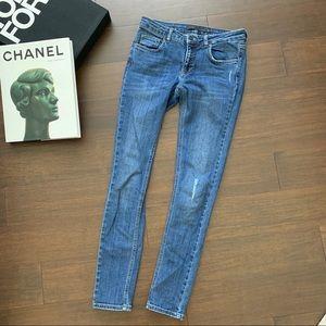 VICTORIA BECKHAM skinny blue jeans